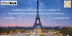 2nd International Conference & Exhibition on Pharmaceutics & Advanced Drug Delivery Systems @ Holiday Inn Paris – Marne La Vallée