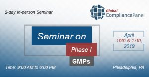 Seminar on Phase I GMPs @ DoubleTree by Hilton Philadelphia Airport