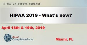 HIPAA 2019 - What's new? @ Hyatt Place Miami Airport East
