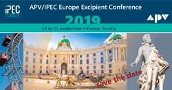 IPEC Europe Excipient Conference 2019 @ Austria Trend Hotel Savoyen Vienna