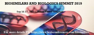 World Biosimilars and Biologics Summit 2019 @ London, UK