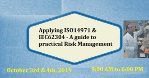 A guide to practical Risk Management - Applying ISO14971 and IEC62304 @ WILL BE ANNOUNCED SOON