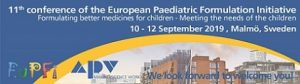 11th conference of the European Paediatric Formulation Initiative @ Quality Hotel View